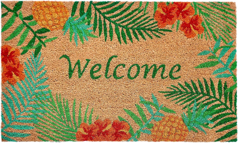 """Liora Manne Natura Tropical Natur Outdoor Welcome Coir Door Mat, 1'6"""" x 2'6"""""""