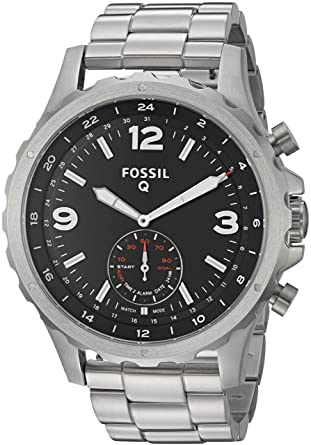 354abbe5ac3 Amazon.com  Fossil Hybrid Smartwatch - Q Nate Stainless Steel  Watches