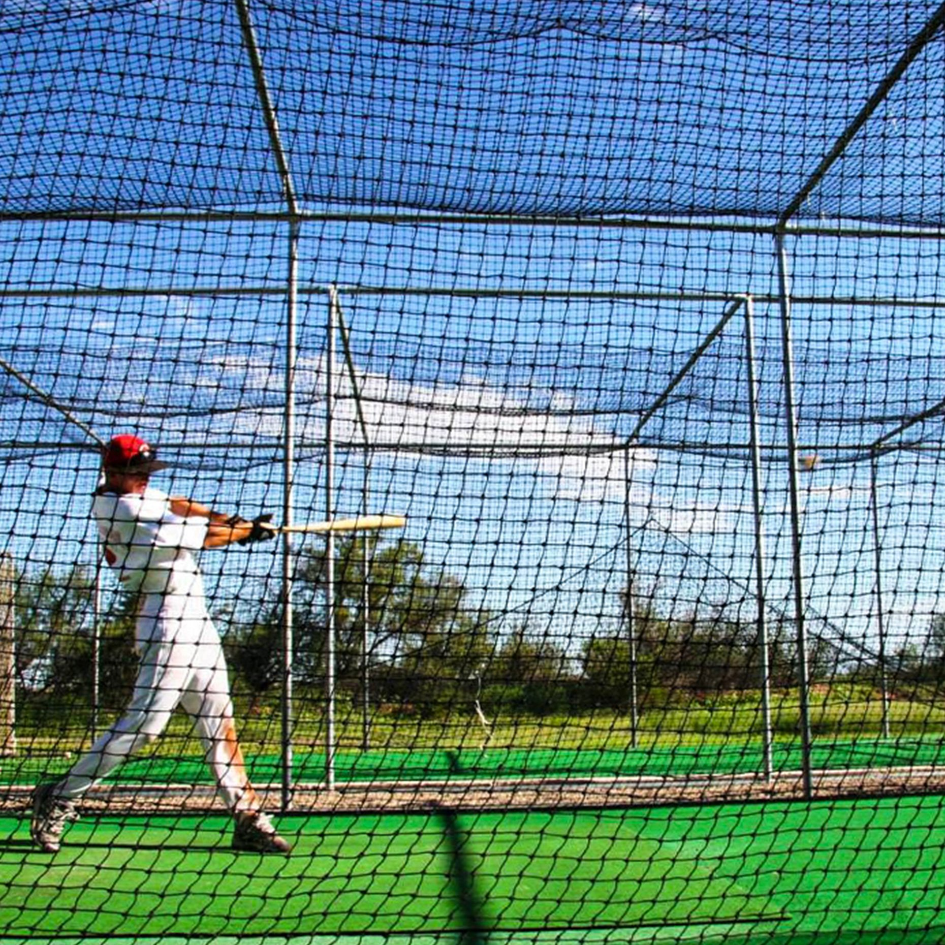Baseball Batting Cage Nets [12 Sizes] | Professional Fully Enclosed #42 Grade Heavy Duty HDPP Netting | Baseball & Softball Cage Netting | Hitting Cage Net