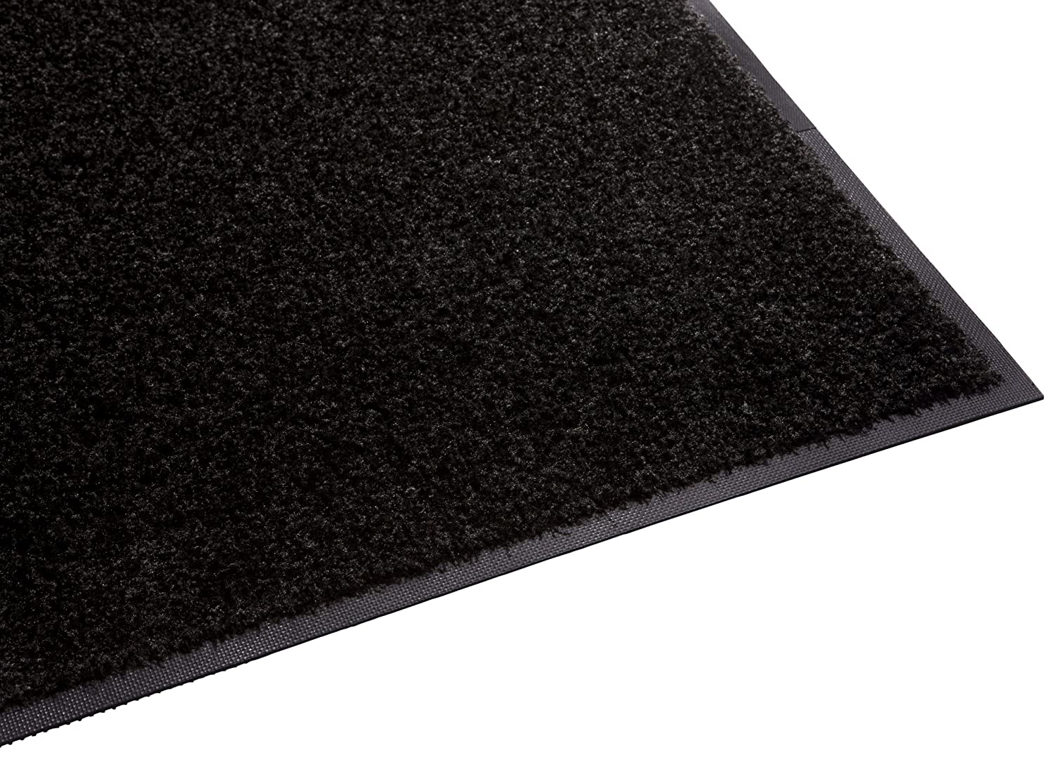Guardian Platinum Series Indoor Wiper Floor Mat, Rubber with Nylon Carpet, 2'x14', Black