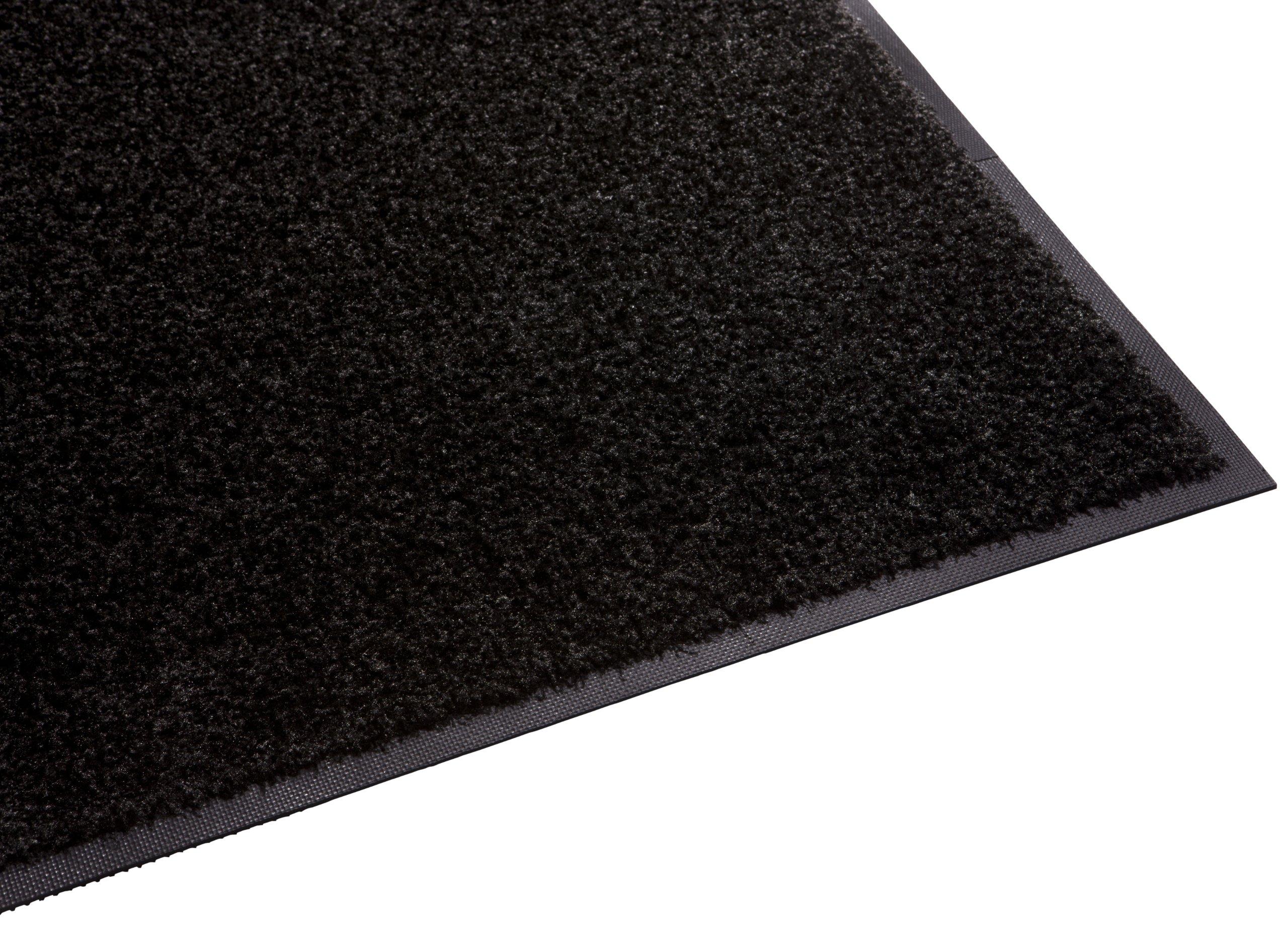 Guardian Platinum Series Indoor Wiper Floor Mat, Rubber with Nylon Carpet, 2'x8', Black