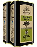 Ellora Farms | Certified PDO Extra Virgin Olive Oil | Single Variety Olives | Cold Extracted & Traceable Olive Oil | Born in Ancient Crete, Greece | Kosher | 1 Lt Tins (33.8 FL oz.) | Pack of 2