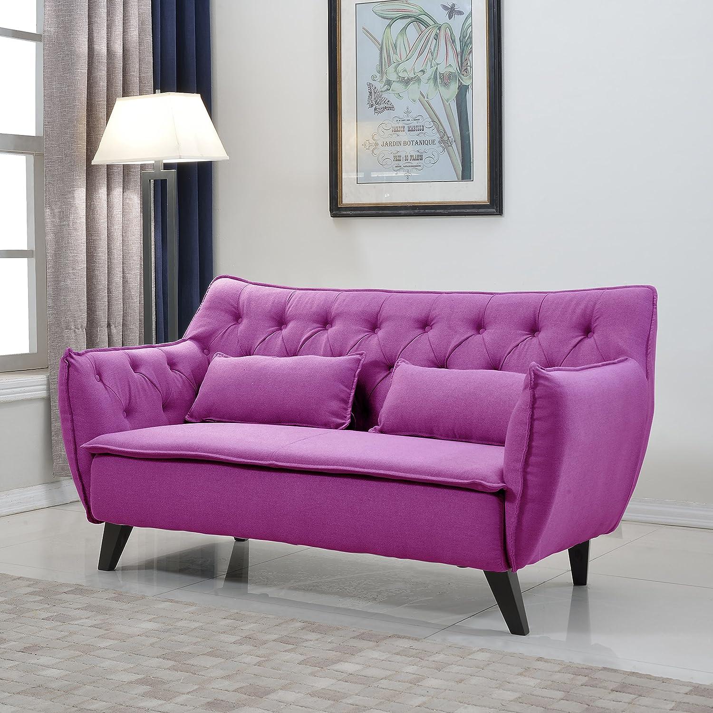 Amazon Divano Roma Furniture Mid Century Linen Fabric