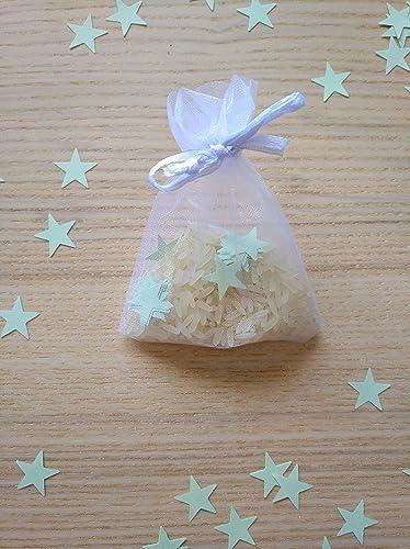 Bolsas de organza con arroz y confeti modelo star para bodas ...