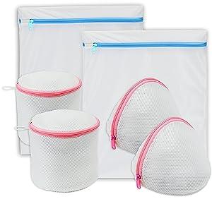 Simple Houseware 6 Pack Laundry Bra Lingerie Bags (2 Large & 4 Underwear Bags)