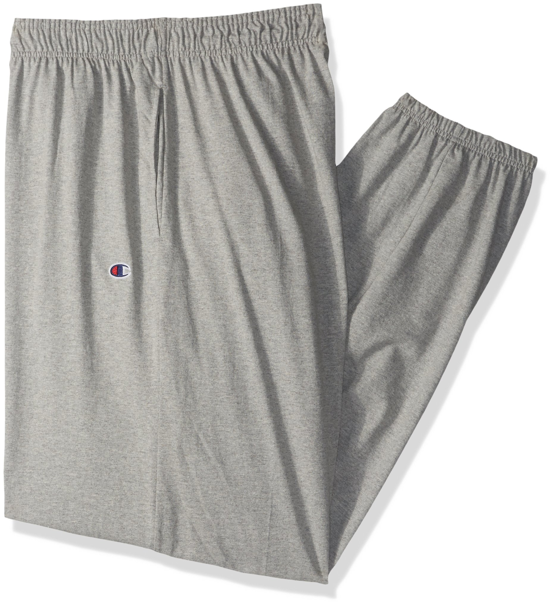 Champion Men's Closed Bottom Light Weight Jersey Sweatpant, Oxford Grey, 3XL by Champion
