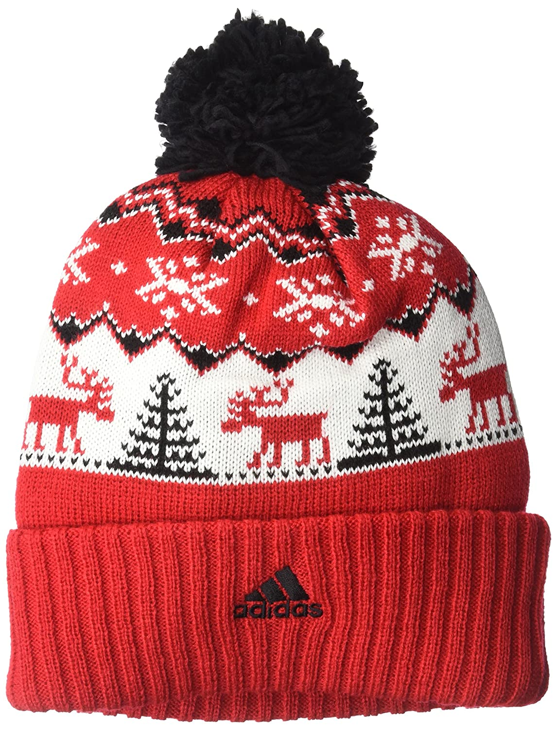 half off 2e0d0 e79aa Amazon.com   NBA Atlanta Hawks Reindeer Cuffed Pom Knit, Atlanta Hawks,  Red, One Size   Clothing