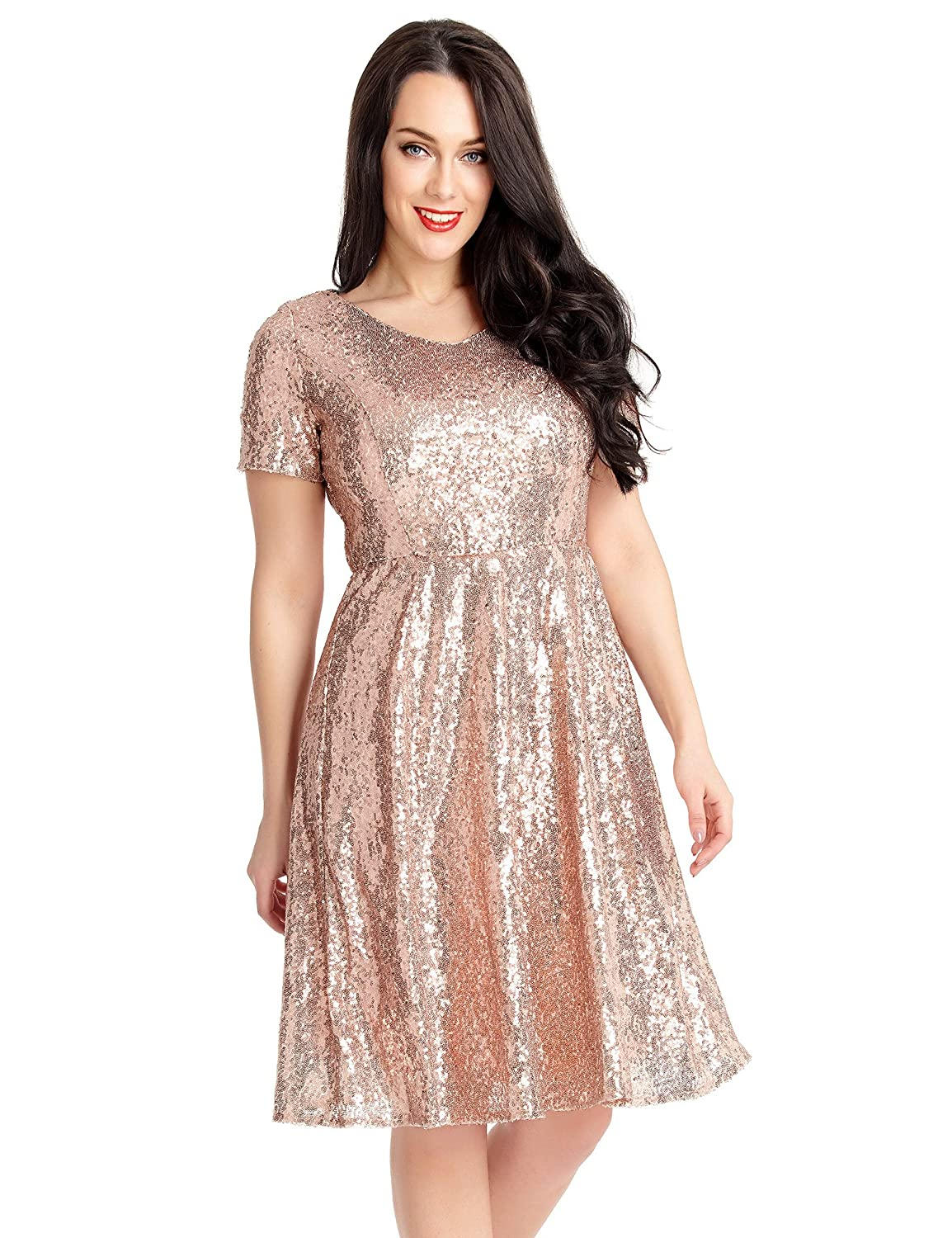 Grapent Women\'s Plus Size Sequin Cocktail Sheath Short Dress Bodycon ...