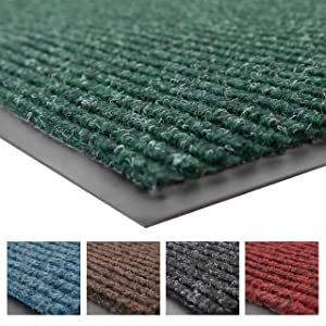 Notrax 109 Brush Step Entrance Mat, for Home or Office, 3' X 10' Hunter Green