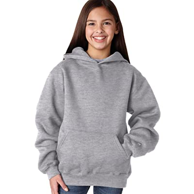 Badger Sport Youth Hooded Sweatshirt 2254 Oxford Small