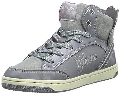 6aa62590e09ade Geox Girls' Jr Creamy C Hi-Top Sneakers: Amazon.co.uk: Shoes & Bags