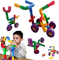 Skoolzy STEM Toys for Boys and Girls - Pipes & Joints Building Blocks Construction Sets for Kids - Fun Toddlers Fine...