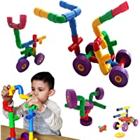 Skoolzy STEM Toys for Boys and Girls - Pipes & Joints Building Blocks Construction Sets for Kids - Fun Toddlers Fine Motor Skills Engineering | Best Gift Educational Toy for Age 3 4 5 Year Olds