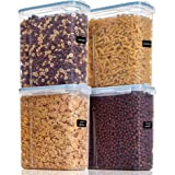 Vtopmart Cereal Storage Container Set, Extra Large BPA Free Plastic Airtight Food Storage Containers 213 fl oz for Cereal, Sn