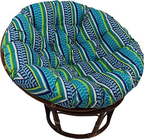 Blazing Needles Patterned Outdoor Spun Polyester Papasan Cushion