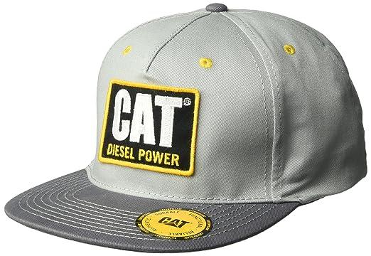 Caterpillar Mens Diesel Power Flat Bill Cap, Light Grey One Size