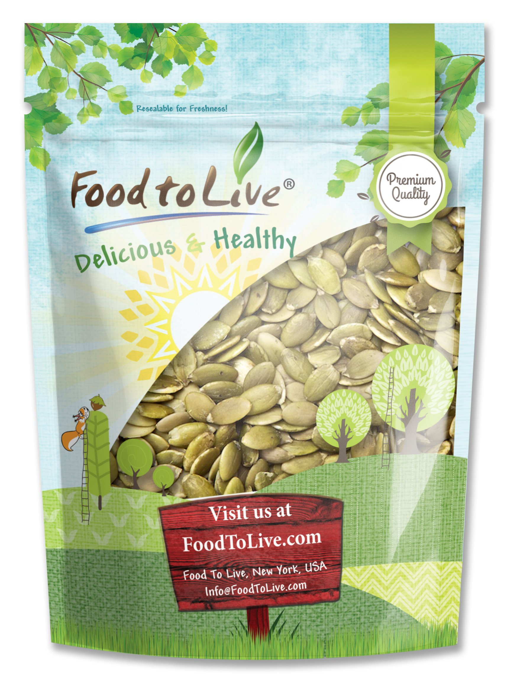 Food to Live Pepitas/Pumpkin Seeds (Raw, No Shell, Kosher) (2 Pounds)