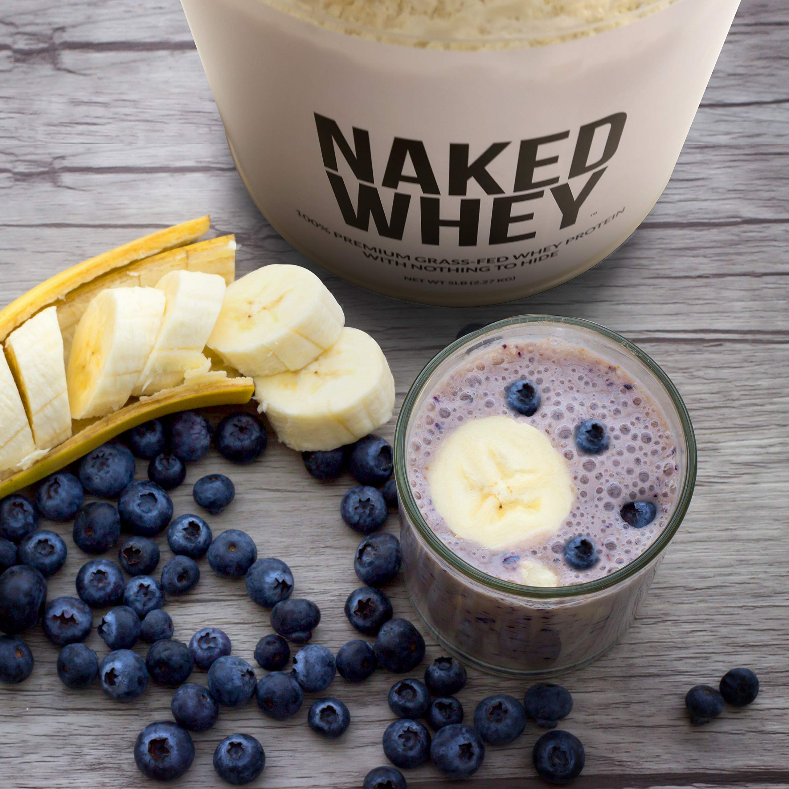 Naked WHEY 1LB 100% Grass Fed Unflavored Whey Protein Powder - US Farms, Only 1 Ingredient, Undenatured - No GMO, Soy or Gluten - No Preservatives - Promote Muscle Growth and Recovery - 15 Servings by NAKED nutrition (Image #8)