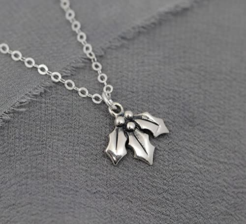 Personalised Star Necklace Christmas Jewellery Holly With Initial Star Necklace Sterling Silver Holly Necklace