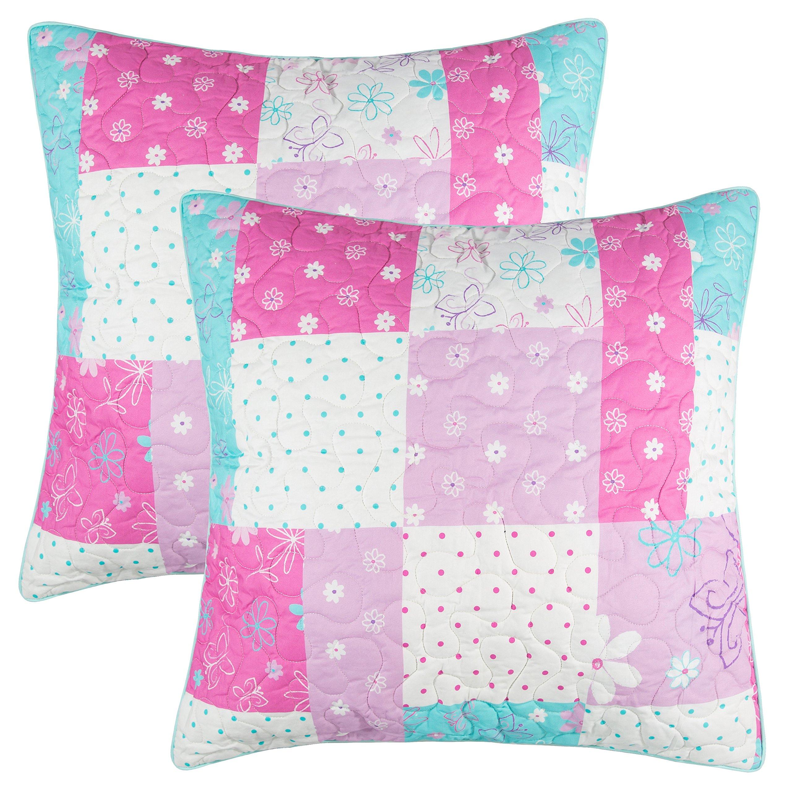 Lullaby Bedding 200EuroBFLY Butterfly Garden Cotton Printed Shams, Euro