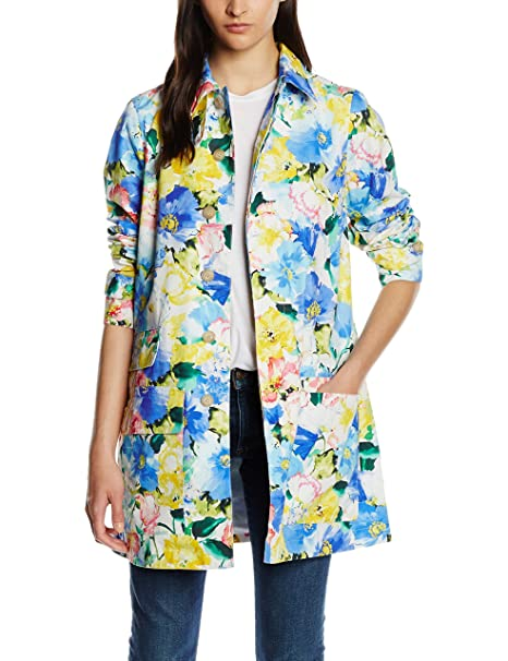 Polo Ralph Lauren Classic Mac, Chaqueta para Mujer, Mehrfarbig (Blue Floral W White Ground M4H02), 40: Amazon.es: Ropa y accesorios