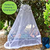 EVEN Naturals Luxury MOSQUITO NET for Bed, Large: for Single to Queen Size, Finest Holes: Mesh 380, Fly Net Bell, Bed Canopy Curtain Netting, Entry, Quick Easy Installation, Storage Bag, No Chemicals