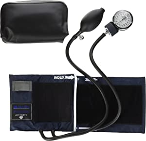 Mabis Precision Series Aneroid Sphygmomanometer, Professional Blood Pressure Gauge, Manual Blood Pressure Cuff, Arm Sizes 11 to 16.4 Inches, Adult