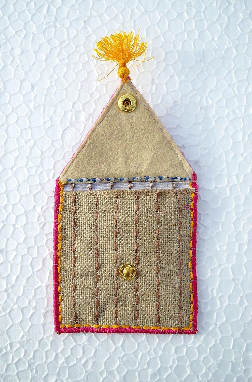 Alambre de moneda bolsa cuadrada bolsillo soporte Hecho a mano regalo bohemio marroqu/í tama/ño 3/X 3/Pulgadas