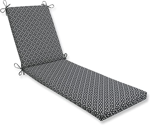 Pillow Perfect Outdoor/Indoor In The Frame Ebony Chaise Lounge Cushion 80x23x3