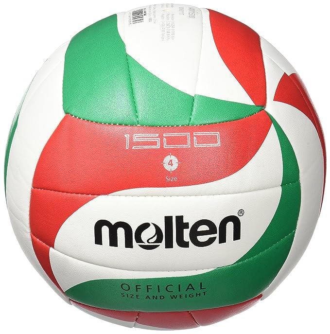 MOLTEN V5M1500 Balón de Voleibol, Unisex, Blanco/Verde/Rojo, 5 ...