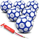 GoSports FUSION Soccer Balls - Top Level Performance - Available as Single Balls or 6 Packs - Includes Pump and Carrying Bag