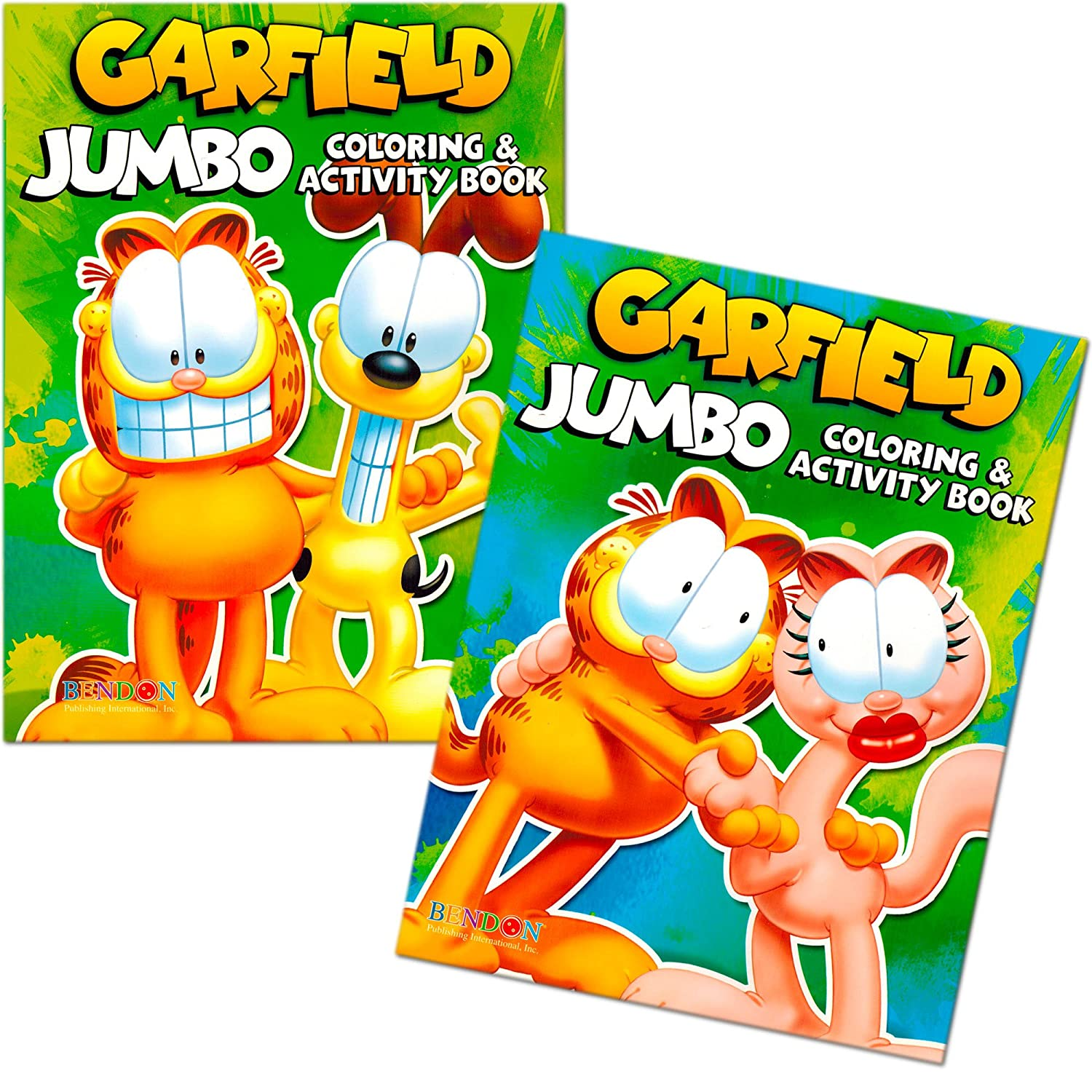 amazon com garfield coloring book set 2 books 96 pages toys