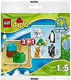 Lego Duplo Überraschungspack Mystery Bag Wildlife 30322 1 Tier (z.B. Eisbär, Pinguin, Elefant, Löwe, Schildkröte) + Steine