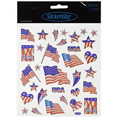 Tattoo King Multi-Colored Stickers-Patriotic: Arts, Crafts & Sewing