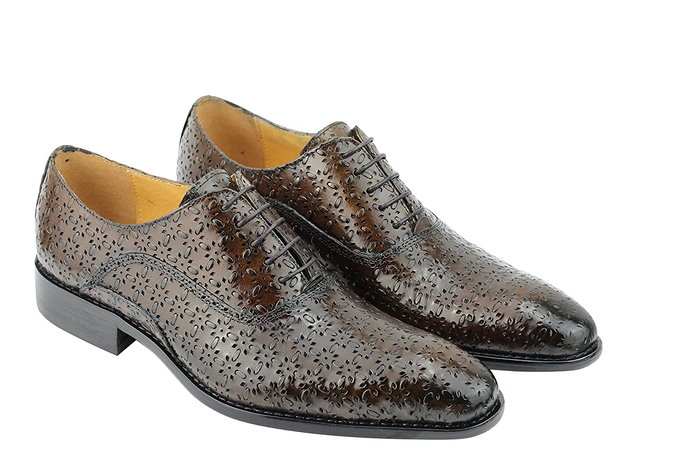 Herren Echt Leder PERFORIERT geprägt Dusty Olive Grün Oxford Oxford Oxford Gatsby Mod Schuhe 905b5f