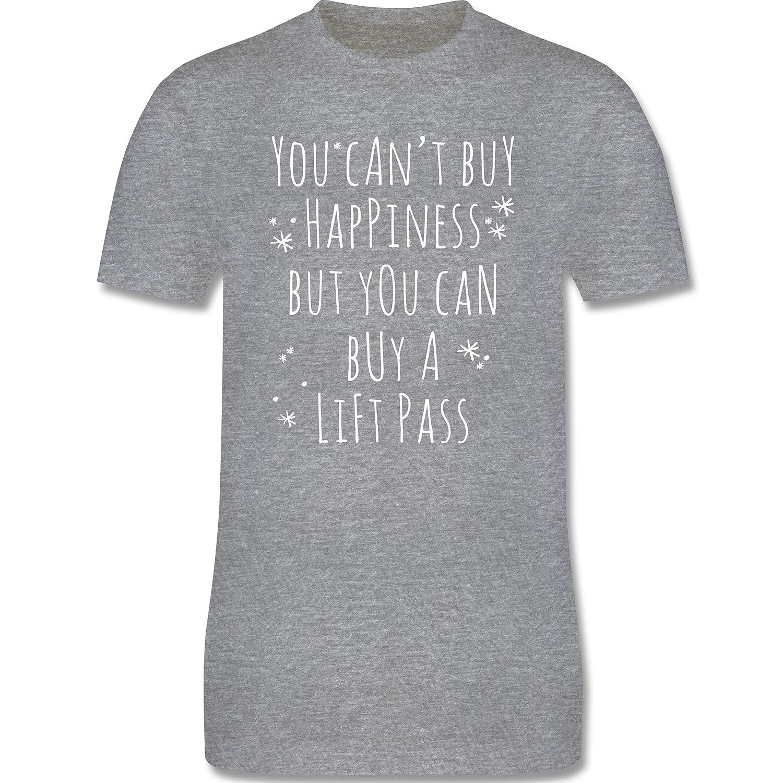 Wintersport - Buy Happiness Lift Pass Ski Snowboard - Premium Kurzarm T-Shirt für Herren