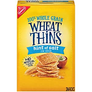 Wheat Thins Hint of Salt Whole Grain Low Sodium Crackers, 9.1 oz