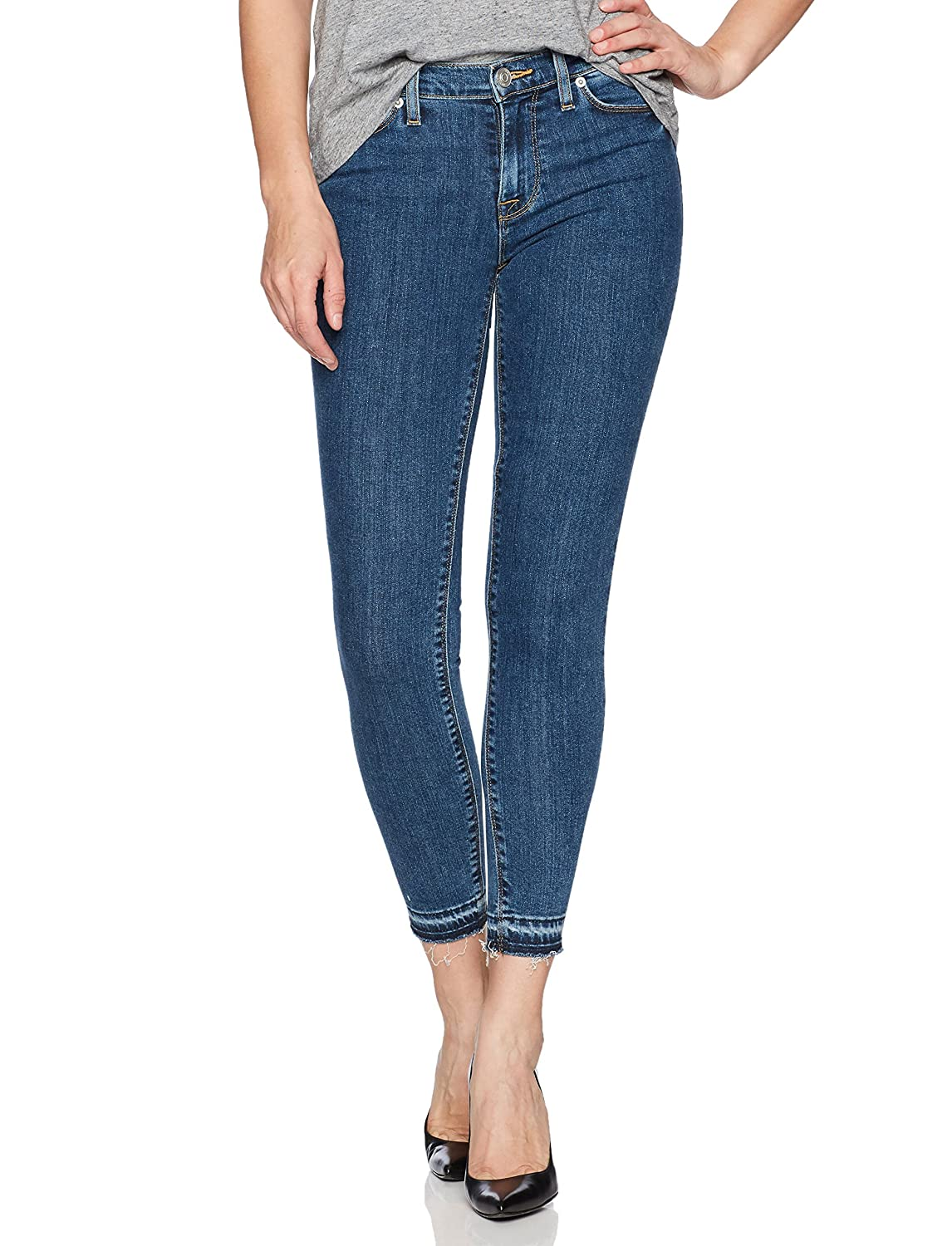Hudson Jeans Womens Nico Midrise Ankle Skinny with Released Hem Jeans