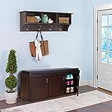 HomeTown Three Door Engineered Wood Three Door Shoe Storage Rack in Walnut Color