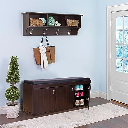 HomeTown Three Door Engineered Wood Three Door Shoe Storage Rack in Wenge  Color