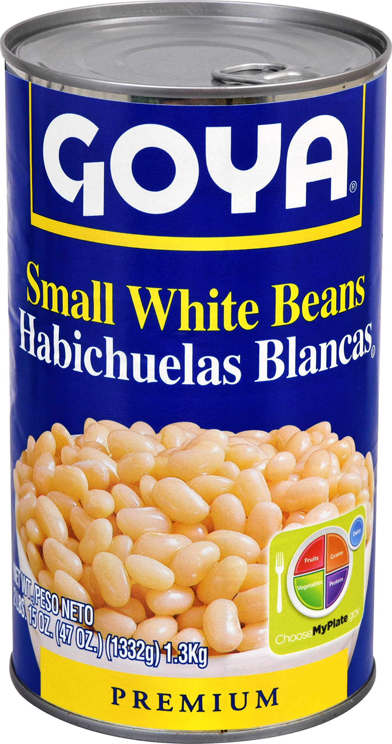 Goya Foods Small White Beans, 47 Ounce (Pack of 12)
