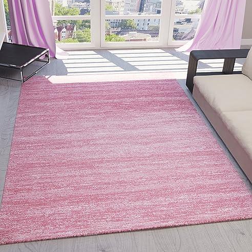 teppich kurzflor wohnzimmer meliert mehrfarbig beige, braun ... - Wohnzimmer Grun Rosa