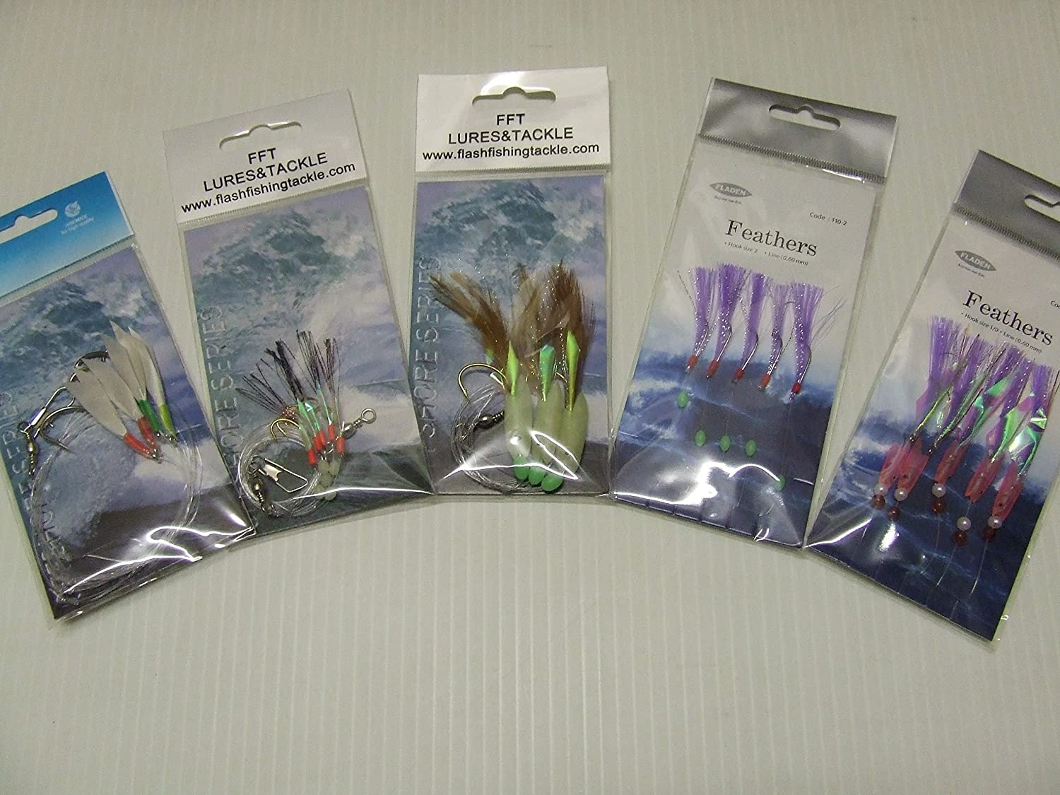 Sea Fishing Lures Selection Feathers For Mackerel /& Other Sea Fish