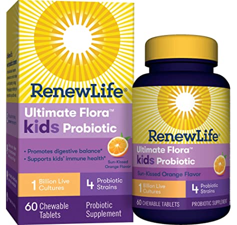 Ultimate Flora Kids Probiotic Supplement Chewable Tablets Berry 30 Ea Amazon Ae