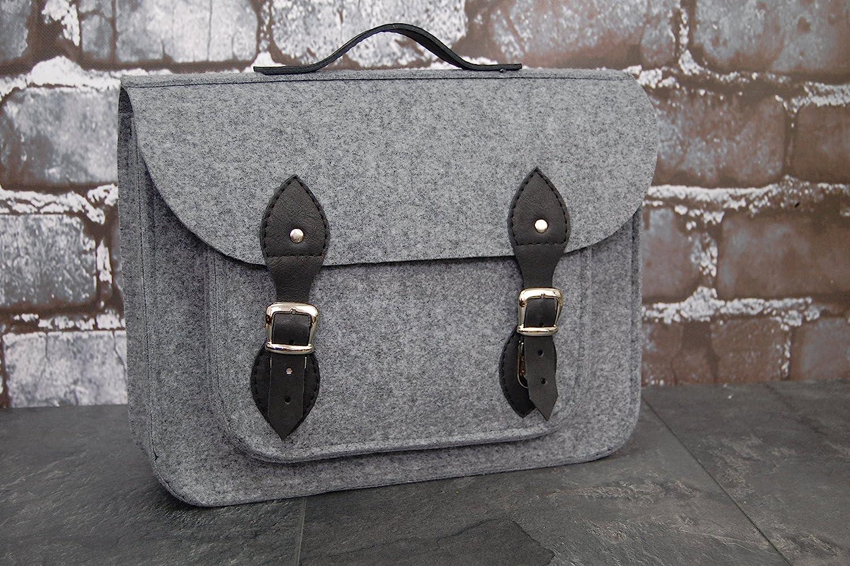 Felt Laptop bag with leather, satchel, messenger bag, Macbook Pro,Custom size Laptop bag, case, leather straps