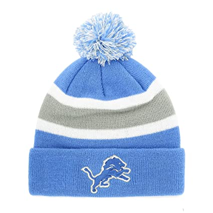 ba6e4230b51 Image Unavailable. Image not available for. Color  Fan Favorite NFL Detroit  Lions Breakaway Knit Beanie with Pom