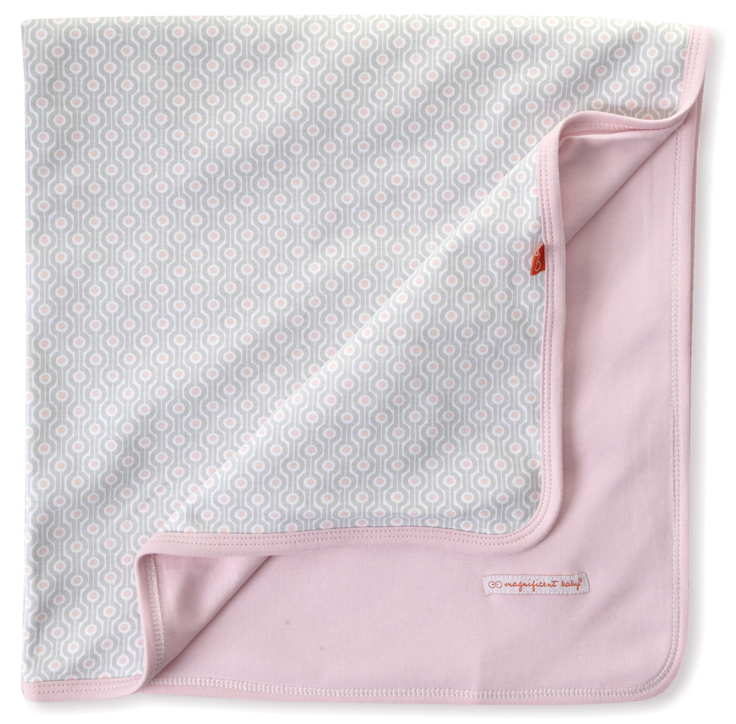 Magnificent Baby-Girls Newborn Reversible Blanket, Pink Mod Dots, One Size by Magnificent Baby