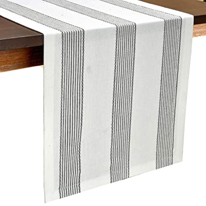 Miraculous Glamburg Cotton Table Runner 90 Inch 100 Ring Spun Cotton 2 Pack 14X90 Inch With Mitered Corners And A Generous Hem Charcoal Creativecarmelina Interior Chair Design Creativecarmelinacom