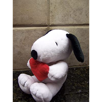 """Vintage Peanuts Snoopy """"I LOVE YOU"""" Plush: Toys & Games"""