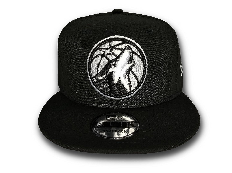 new styles 7b4ee 89a54 ... wholesale new era minnesota timberwolves nba basic black white 9fifty  snapback cap at amazon mens clothing